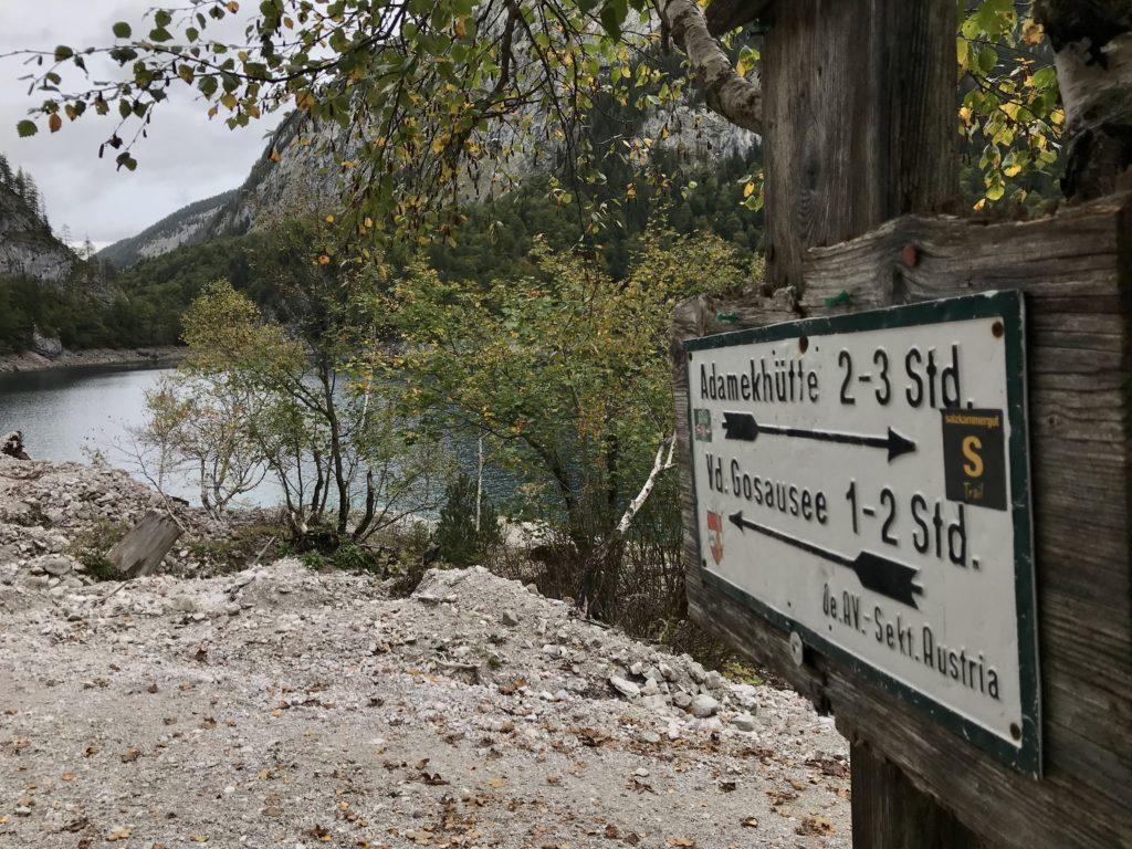 Salzkammergut wandern - gut zwei Stunden vom hinteren See auf die Adamekhütte