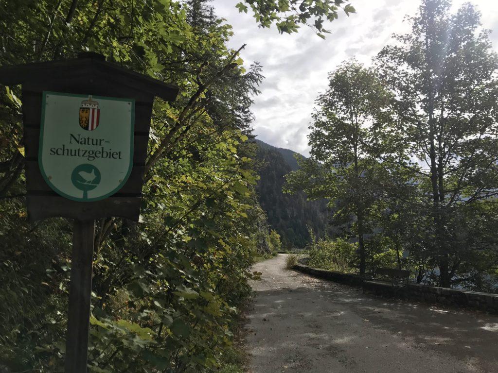 Vorderer Gosausee Camping - ist verboten! Es ist ein Naturschutzgebiet